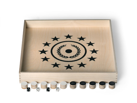 Backgammon & Checkers Box Set (Backgammon & Dame). Handgemacht.