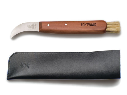 Mushroom Picker's Knife with Leather Case