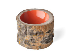 "Log Bowl ""Coral"" by loyalloot collective"